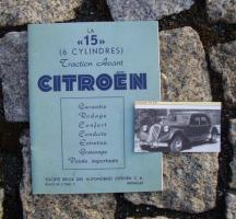 Betriebsanleitung Citroen 15 CV Traction Avant 1951