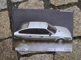 Foto 2 Betriebsanleitung Citroen CX 25 GTi Turbo 2 u. Prestige / 1985