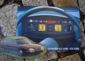 Foto 5 Betriebsanleitung Citroen CX 25 GTi Turbo 2 u. Prestige / 1985