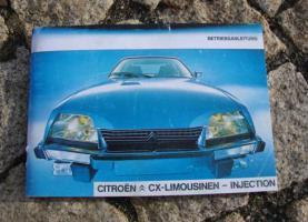 Betriebsanleitung Citroen CX Injection 2400 GTI 1978