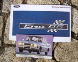 Betriebsanleitung FORD 15M RS (1968) P6 Oldtimer