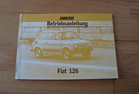 Betriebsanleitung Fiat 126 P4 (1980) Bambino