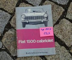 Betriebsanleitung Fiat 1500 Cabriolet / 1965 118K