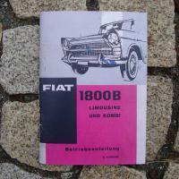 Betriebsanleitung Fiat 1800 B (1964)