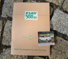 Betriebsanleitung Fiat 500 D / 1964 Oldtimer