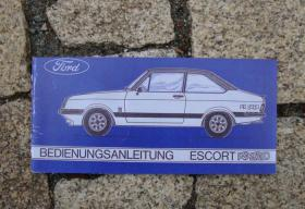 Betriebsanleitung Ford Escort II RS 2000 / 1976