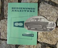 Betriebsanleitung Ford Taunus 12M / 1959 Weltkugel