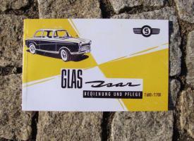 Betriebsanleitung Glas Isar (1964)