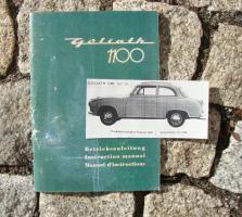 Betriebsanleitung Goliath 1100 (Borgward) 1958