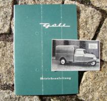 Betriebsanleitung Goliath Goli / 1958 Dreirad Lieferwagen
