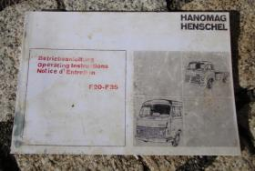 Betriebsanleitung Hanomag-Henschel F 20 / 25 / 30 / 25 (1970)