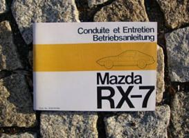 Betriebsanleitung Mazda RX-7 Coupé 1979