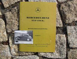 Betriebsanleitung Mercedes 170 Da / 1950