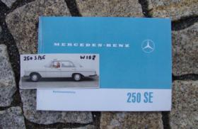 Betriebsanleitung Mercedes W108 250 SE / 1966 W108