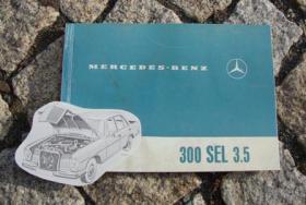 Betriebsanleitung Mercedes W109 300 SEL 3.5