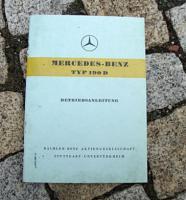 Betriebsanleitung Mercedes W121 190 D Ponton / 1959 W121