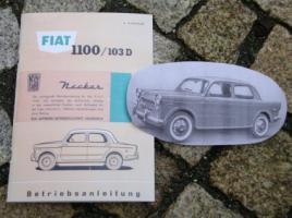 Betriebsanleitung Neckar NSU-Fiat 1100 D / 1959 103D