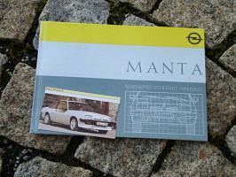 Betriebsanleitung Opel Manta B / Manta B CC 1987
