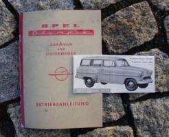 Betriebsanleitung Opel Olympia Rekord 53 Caravan / 1954