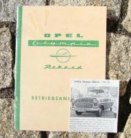 Betriebsanleitung Opel Olympia Rekord / 1957