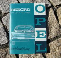Betriebsanleitung Opel Rekord C / 1966
