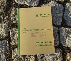 Betriebsanleitung Opel Rekord / 1200 58 / 1960 Olympia Rekord P1