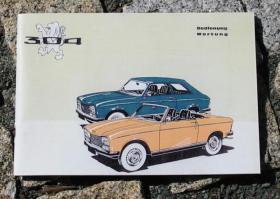 Betriebsanleitung Peugeot 304 S Coupé / Cabriolet (1973)