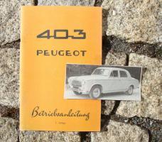 Betriebsanleitung Peugeot 403 Limousine (1961) Oldtimer