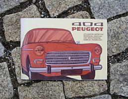 Betriebsanleitung Peugeot 404 GT Lim. / 1974 Break Pickup