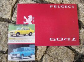 Betriebsanleitung Peugeot 504 L / 1976