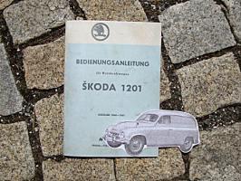 Betriebsanleitung SKODA 1201 Kombi / 1960 Oldtimer