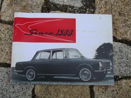 Betriebsanleitung Simca 1500 Limousine / 1964