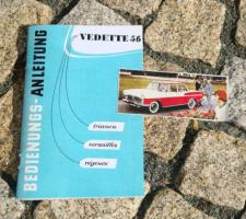 Betriebsanleitung Simca Vedette V8 1956