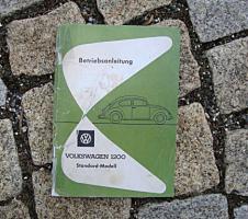 Betriebsanleitung VW 1200 Käfer Standard / 19621962