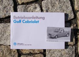 Betriebsanleitung VW Golf I Cabriolet / 1990