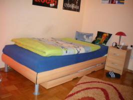 Bett 90 x 200 mit verstellbaren Lattenrost Buche