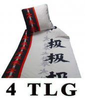 Bettwäsche 4tlg edel  Microfaser 135x200 China Schrift