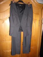 Betty Barclay 2 teiliger Anzug, Hose mit ärmelloser Weste Größe 42 dunkelgrau wie neu