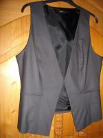 Foto 2 Betty Barclay 2 teiliger Anzug, Hose mit ärmelloser Weste Größe 42 dunkelgrau wie neu