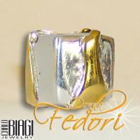 Biagi Bead Wellen am Würfel 925 Sterling Silber, Gold
