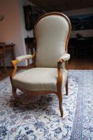 Biedermeier Voltaire Sessel mit Zertifikat