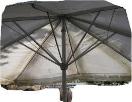 Foto 5 Biergartenschirm, Marktschirm, Sonnenschirm, eckig 5x5 m, gebraucht