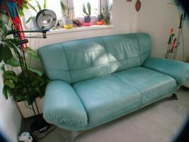 Biete ein Gebrauchtes Design Sofa/Couch 3-sitzig und und dazugehörigem Sessel