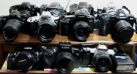 Biete analoge spiegelreflexcamera Canon, Minolta Dynax, Nikon.
