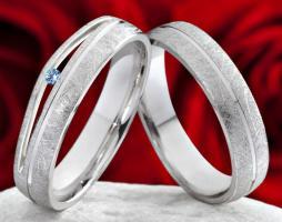 Biete neues Paar Hochzeit Partner Trau Ringe Topas 50 Silber
