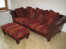 big sofa kolonialstil in kirchdorf 3 sitzer braun textil. Black Bedroom Furniture Sets. Home Design Ideas