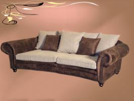 big sofa im kolonialstil in linkenheim hochstetten 4 sitzer beige leder. Black Bedroom Furniture Sets. Home Design Ideas