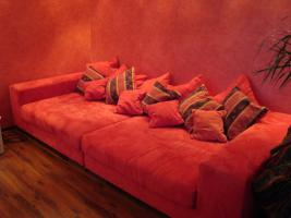 Big Sofa Kuschelcouch in rot