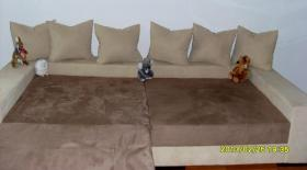 Big Sofa in braun/beige