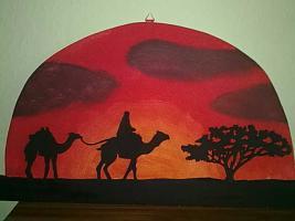 Bild African-Art (Kamel) aus Holz